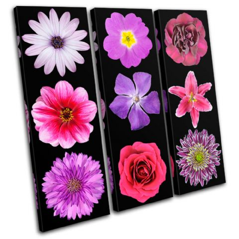 Pink purple Flowers Floral - 13-0407(00B)-TR11-LO